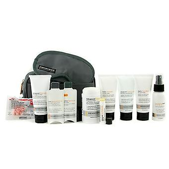 Menscience Travel Kit: Face Wash + Lotion + Shave Formula + Post-shave Repair + Shampoo + Deodorant + Lip Protection + Eye Mask + Ear Plugs + Bag - 9pcs+1bag