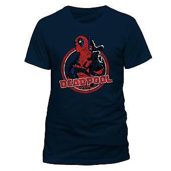 Men's Marvel Deadpool Logo Point Printed T-Shirt