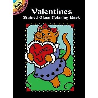 Valentines Stained Glass Coloring Book by Marty Noble - 9780486407364