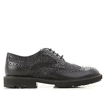 Tod's Xxm46a0z430jks987r Men's Black Leather Lace-up Shoes