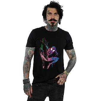 Marvel Men's Spider-Man Into The Spider-Verse City Colour T-Shirt
