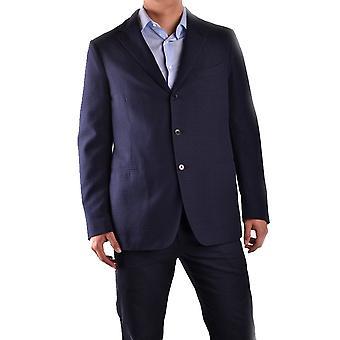 Piombo Ezbc313003 Men's Blue Cotton Blazer