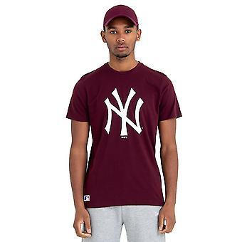 New Era Basic Shirt - MLB New York Yankees maroon