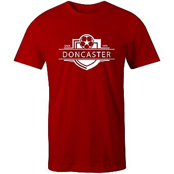 Doncaster Rovers 1879 gevestigde badge voetbal T-shirt