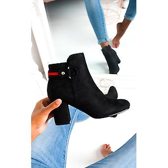 IKRUSH Womens Ami Faux Suede Heeled Boots