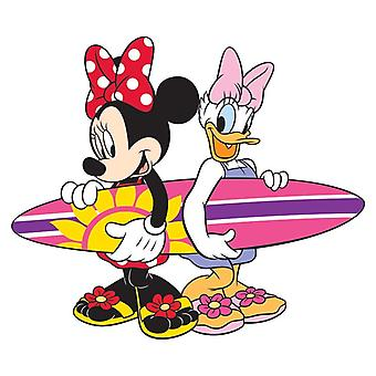Magnet - Disney - Minnie & Daisy Surfing  Soft Touch Figure New Licensed 85171