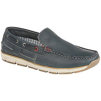 Roamers Superlight Mens Leather Slip On Apron Tab Moccasin Leisure Shoes