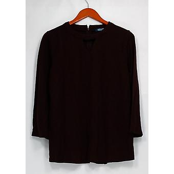 Kelly by Clinton Kelly Top Long Sleeve Cutout Neck Detail Burgundy Red A297924