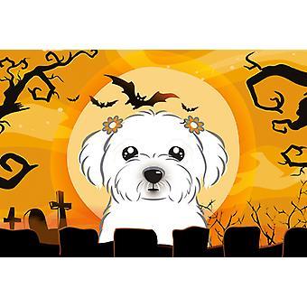 Carolines Treasures  BB1766PLMT Halloween Maltese Fabric Placemat