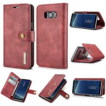 Dg. MING Samsung Galaxy S8 Plus Split leather wallet Case-red