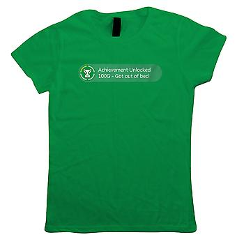 Achievement Unlocked Got Out Of Bed, Womens Gaming T-Shirt - Parent Gift Her