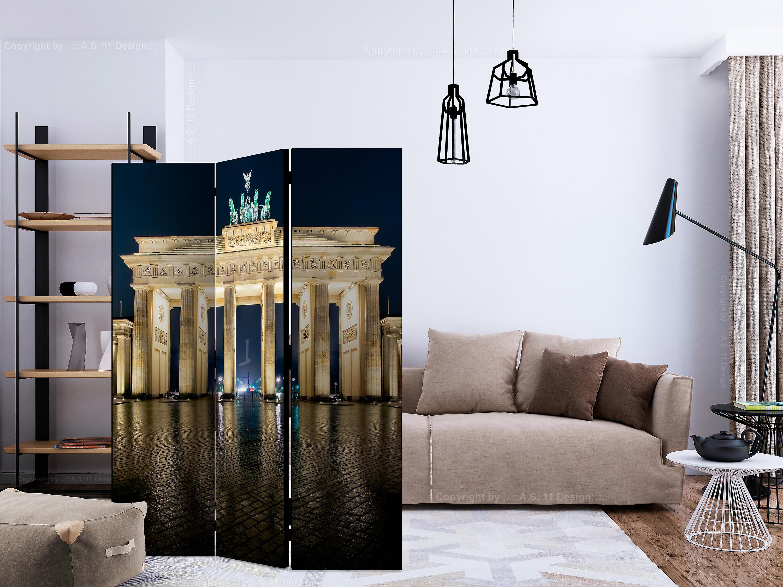 Paravent 3 volets - Berlin at Night [Room Dividers]
