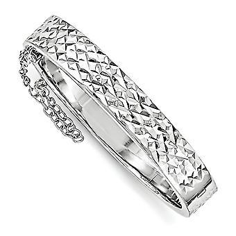 8.4 mm 925 sterling zilver net als mama Sparkle-cut met veiligheid scharnierend voor jongens of meisjes Bangle Bracelet