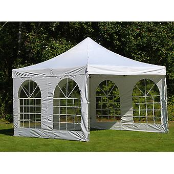 Vouwtent/Easy up tent FleXtents PRO Vintage Style 4x4m Wit, inkl. 4 Zijwanden