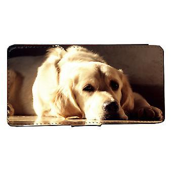 Samsung S8 Monedero Caso Golden retriever casco de perro