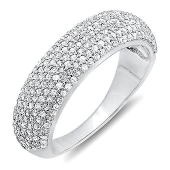 Dazzlingrock Collection 0.90 Carat (ctw) 14k Round Diamond Anniversary Wedding Band Ring, White Gold