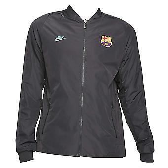 2019-2020 Barcelona Nike omkeerbare jas (grijs)