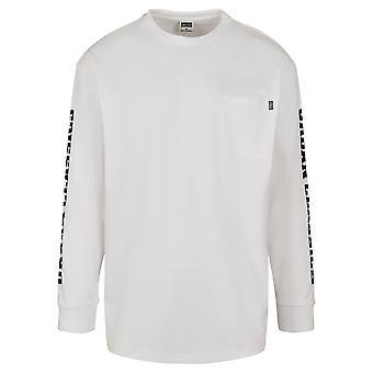 Urban Classics Uomo Camicia a maniche lunghe Maniche Logo Boxy Tasca