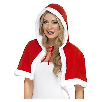 Frauen Miss Claus Mini Cape Weihnachten Fancy Kleid