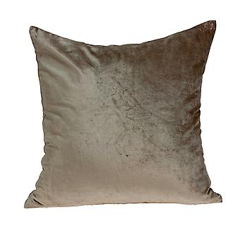 """18"""" x 7"""" x 18"""" Transitional Taupe Solid Pillow Cover With Poly Insert"""