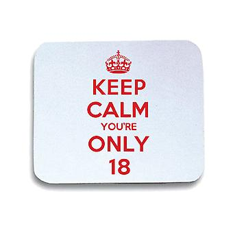 White mouse pad pad wtc0017 keep calm you're only8