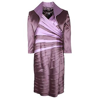 Ronald Joyce Purple Sleeveless Dress & Blazer Set