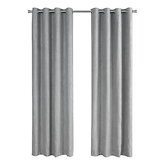 "52"" x 95"" Silver, Room Darkening - Curtain Panel 2pcs"