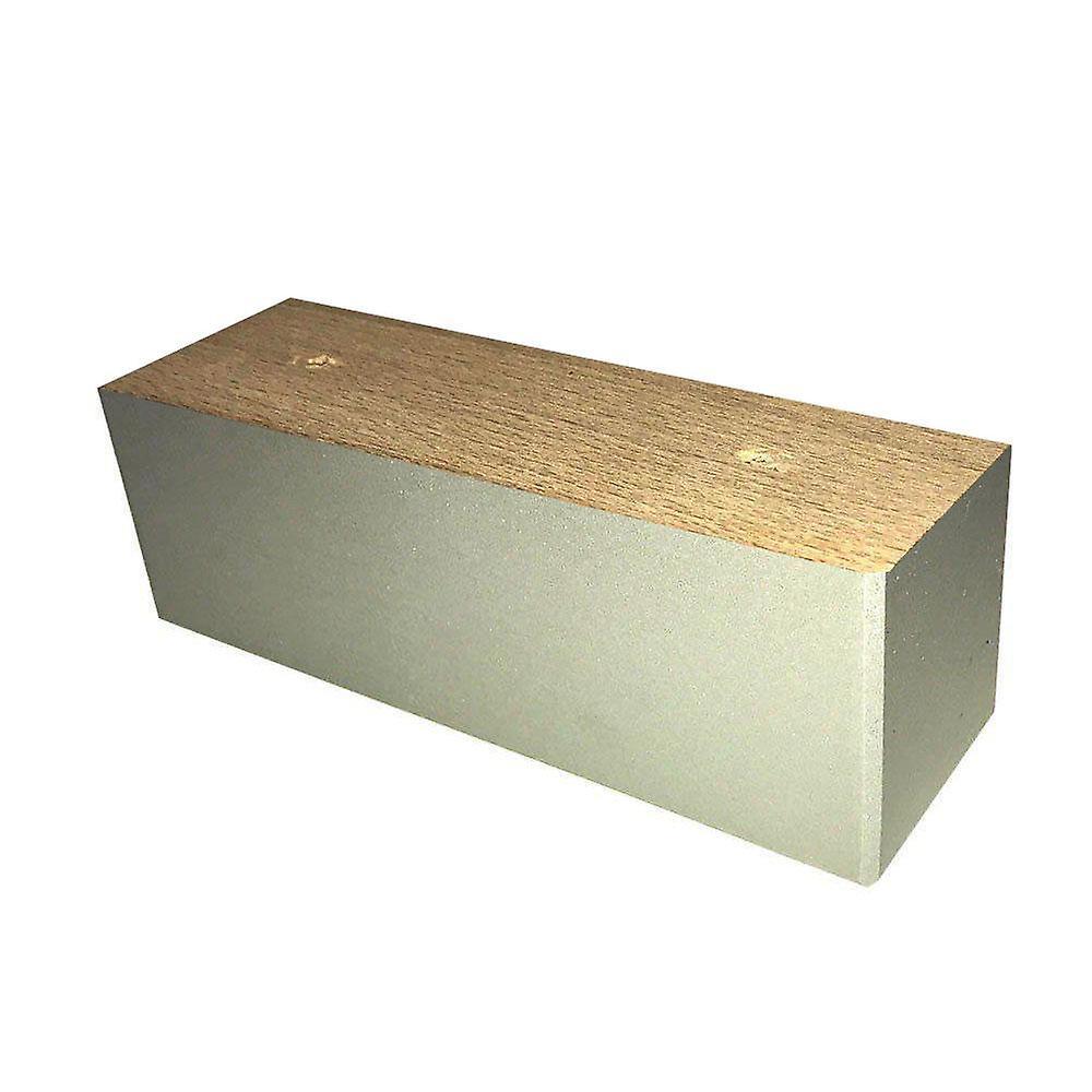 Jambe rectangulaire de meubles en bois gris 6 cm