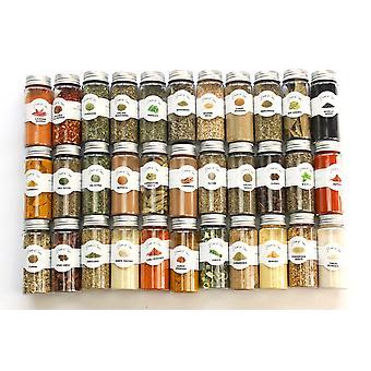 Talon mauste - 33pcs Ultimate mausteet Starter lahja asetettu valikoituja koko + jauhetut mausteet ja yrtit kauniissa lahjapakkauksessa