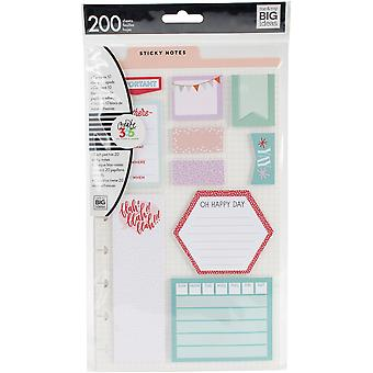 Happy Planner Sticky Notes 200/Pkg-Be There - Classique, 10 Designs/20 Chacun