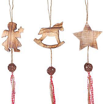 Pendurado, decoração de Natal. Definido por 3