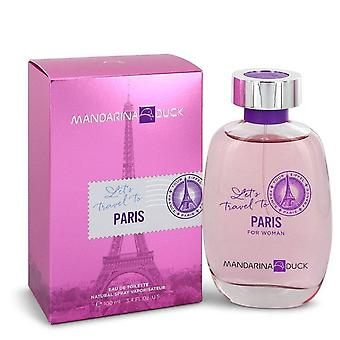 Mandarina ente let's travel to paris eau de toilette spray by mandarina duck 544211 100 ml