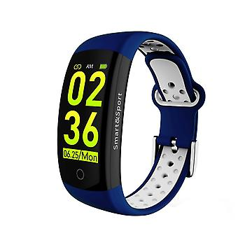 Q6S activity wristband with heart rate monitor-blue