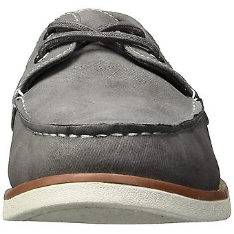 Unlisted by Kenneth Cole Mens Santon Fabric Round Toe Boat Shoes