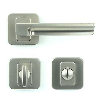 Premium M4TEC ZA5 Bathroom & Toilet Interior Door Handle – Made Of Die-Cast Zinc – Gloss Nickel-Plated Finish – Sturdy, Durable & Easy To Install – Elegant & Classy Design - Ideal For WC Doors