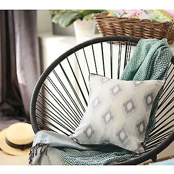 "17""x 17"" Grey Jacquard Chic Decorative Throw Pillow Cover"