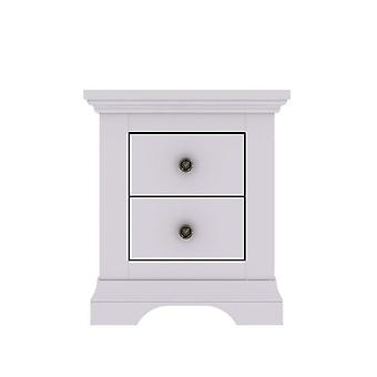 Normandy 2 Drawer Bedside Chest in Grey Ready Assembled