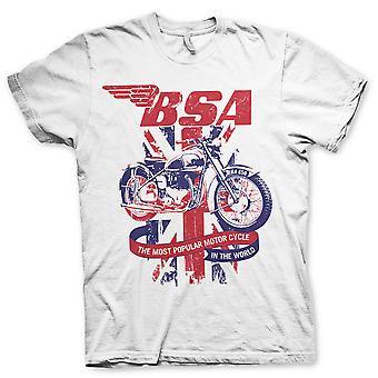 BSA vintage motorcykler hvid motorcykel officielle T-shirt