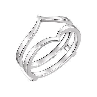 14k White Gold Ring Guard Polished Bridal  Size 6.5 Jewelry Gifts for Women - 3.3 Grams