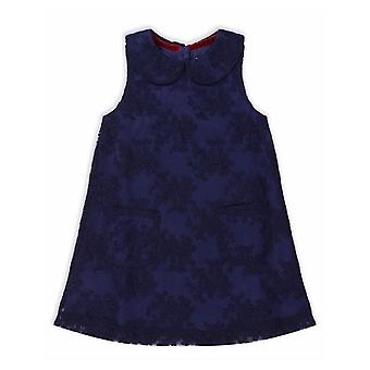 The Essential One Navy Lace A-line Special Dress