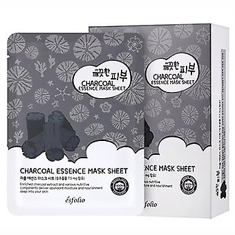 Esfolio Charcoal Essence Mask 10 Sheets