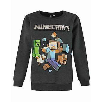 Minecraft Run Away Boy's Sweatshirt