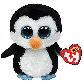 "TY Beanie Boo Buddy 6"" Plush - Penguin Blue Feet Waddles"