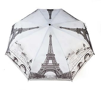 Paraply automatisk Pocket umbrella motiv Paris svart-hvitt