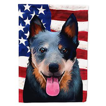 Australian Cattle Dog American Flag Flag Canvas House Size