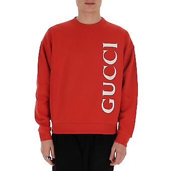Gucci 599345xjb1c6068 Men's Red Cotton Sweatshirt