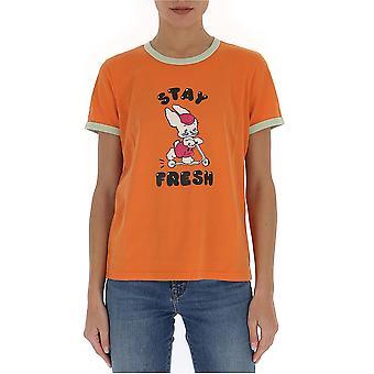 Marc Jacobs C6000017800 Damen's Orange Baumwolle T-shirt