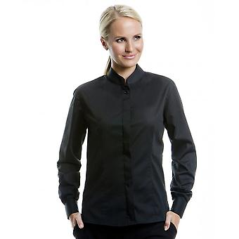 Bargear® Ladies Long Sleeved Mandarin Collar Bar Shirt