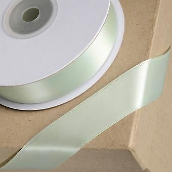 25m Sage Green 23mm Wide Satin Ribbon for Crafts