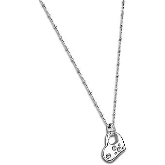 Necklace and pendant Women's Heart LS1746-1-1 - necklace and pendant C? ur crystals woman